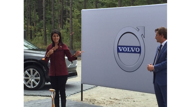 volvo breaks ground on sc manufacturing plant; to bring 4,000 jobs