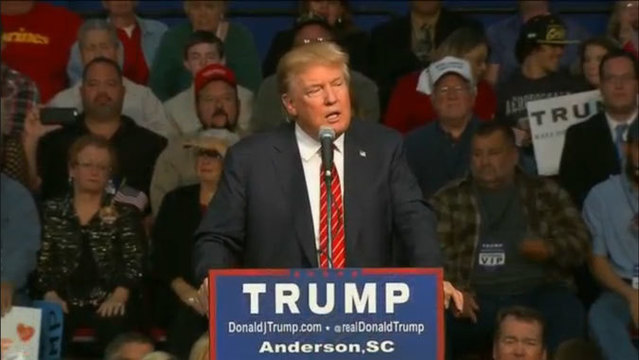 Trump Holds Rally At Anderson Civic Center
