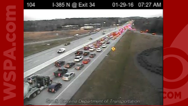 Wreck Cleared On I-385