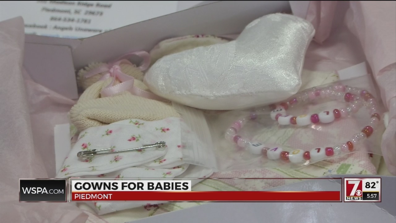 Angels Unaware turns prom and wedding dresses into baby burial gowns