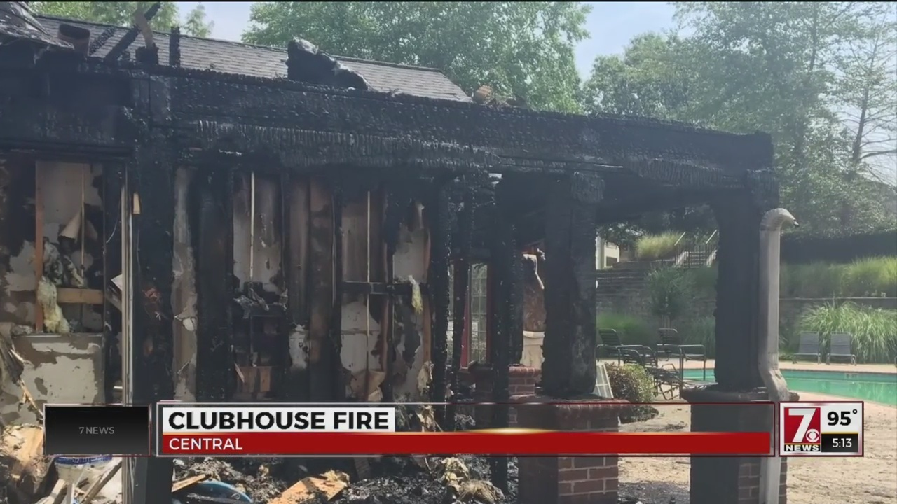 Fire Destroys Pool Clubhouse At Summit Of Cross Creek Apartments In Central    WSPA