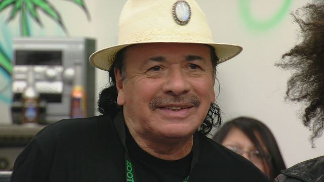 Carlos Santana debuts his marijuana inhaler in Colorado