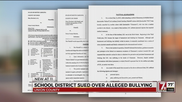 School district sued over alleged physical bullying