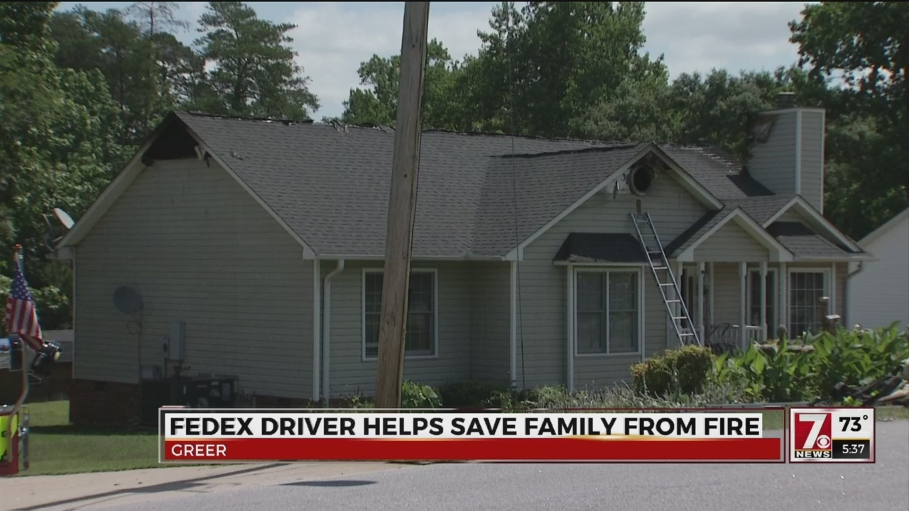 Fedex Driver Helps Save People From House Fire In Greer