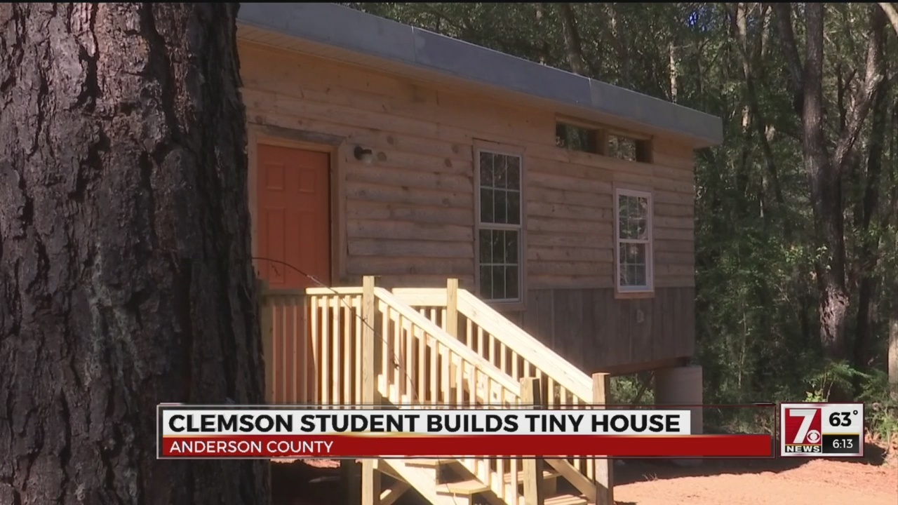 clemson student builds anderson co first tiny home