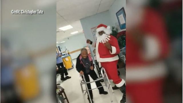 WATCH: 90-year-old woman challenges Santa to a dance-off