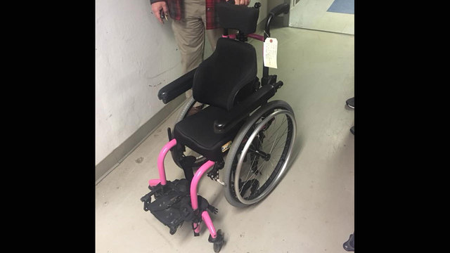 Owner of child's wheelchair found, police say