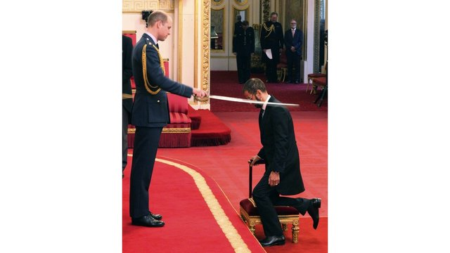 The Beatles' Ringo Starr Knighted by Prince William