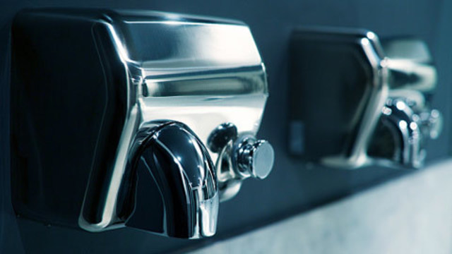 Hand dryers suck up germs, spray it on your hands says study