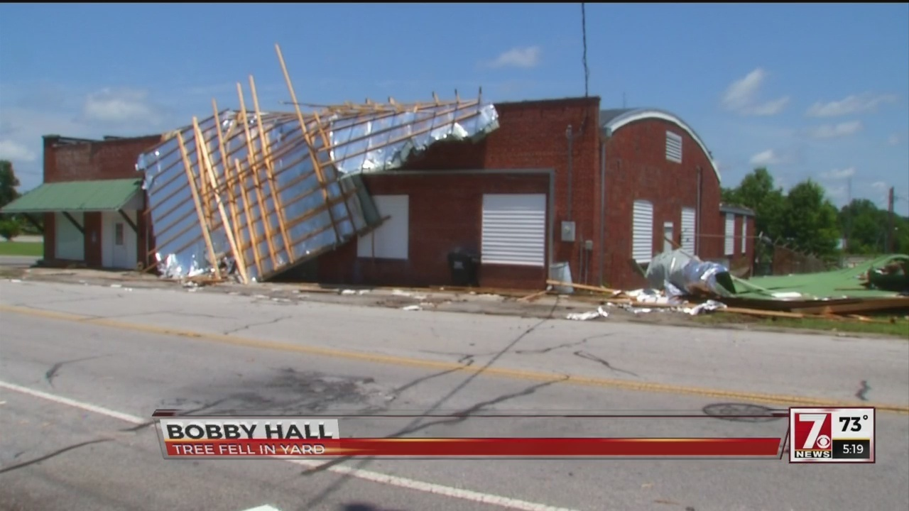 Abbeville co. residents clean up storm damage with more storms on