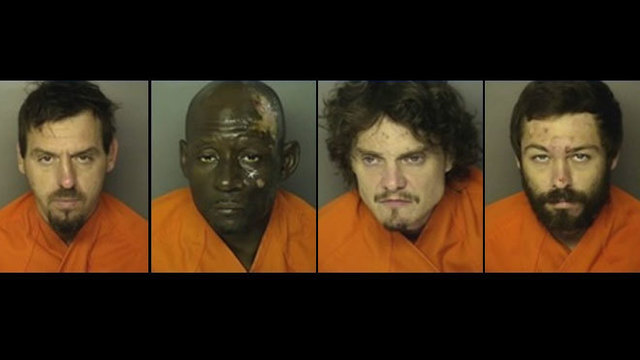 2 bodies found in burned car in Horry Co., 4 charged