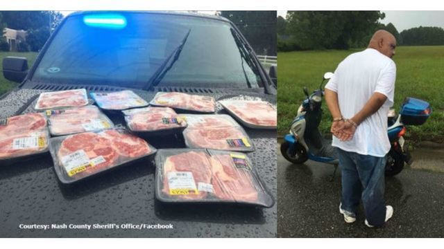 Man busted on moped with $100+ worth of Walmart steaks in pants, deputies say