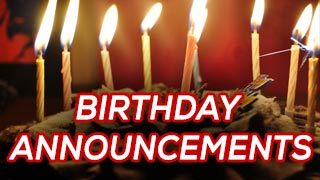 birthday announcements