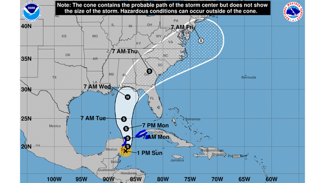 Tropical Storm Michael forms in Caribbean, headed towards FL