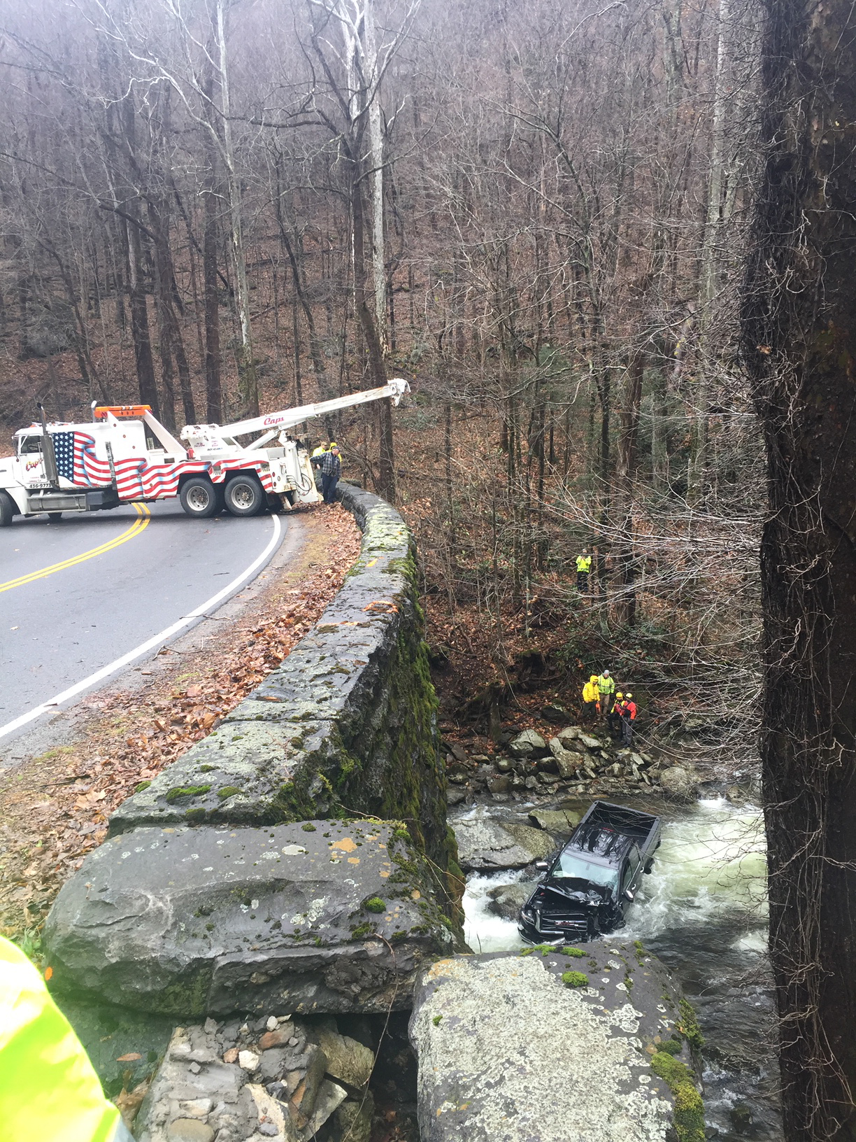 Crash scene (From: Great Smoky Mountains National Park)