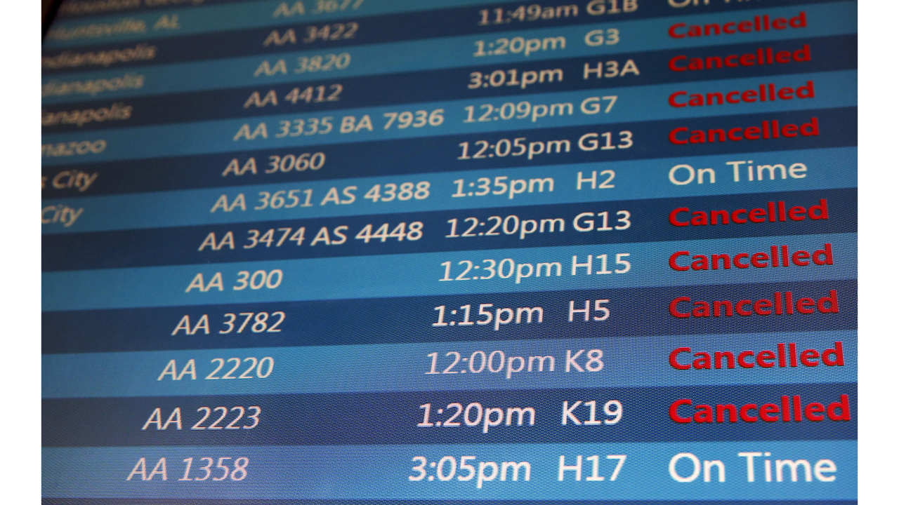 Numerous flights in and out of GSP, Asheville canceled