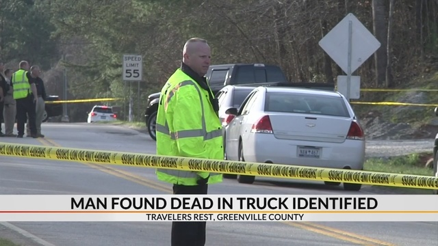 Coroner identifies man found dead in truck in Greenville Co.