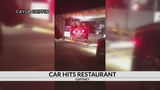 Car crashes into Cherokee Co. restaurant, driver flees scene
