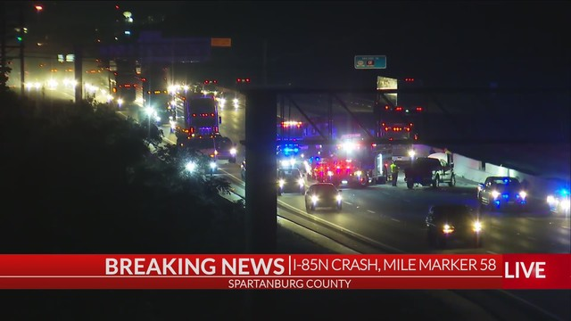 Coroner responding to wreck on I-85N at Exit 58 in Spartanburg Co